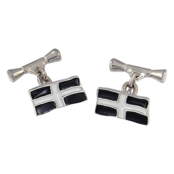 St Piran flag cufflinks