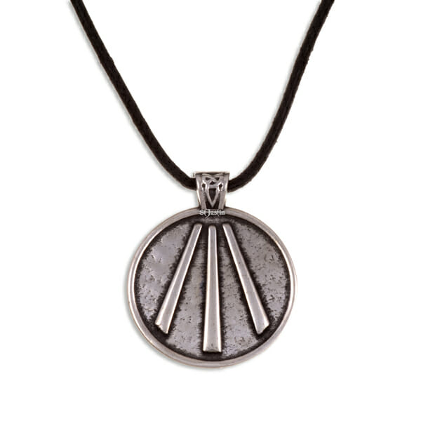 awen pendant on leather st justin