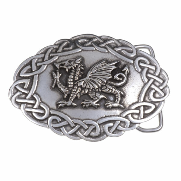 40mm Large Welsh dragon buckle