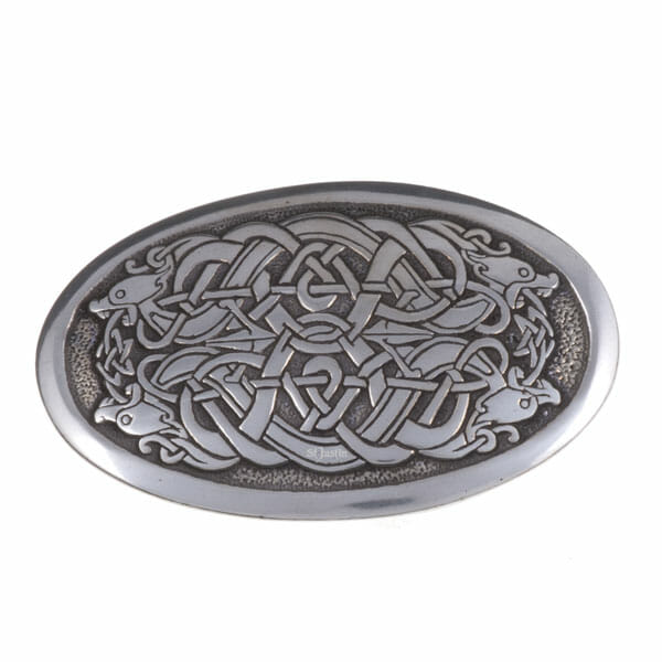 Serpent oval buckle