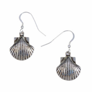 St Michael's Way shell earrings