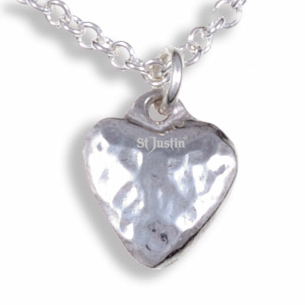 Small planished heart pendant