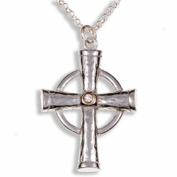 Diamond Celtic ring cross