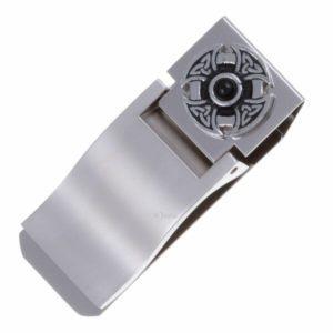 Triangular knot gemstone cross money clip - black onyx 1