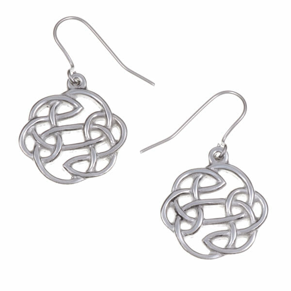 Lugh's knot earrings – pewter