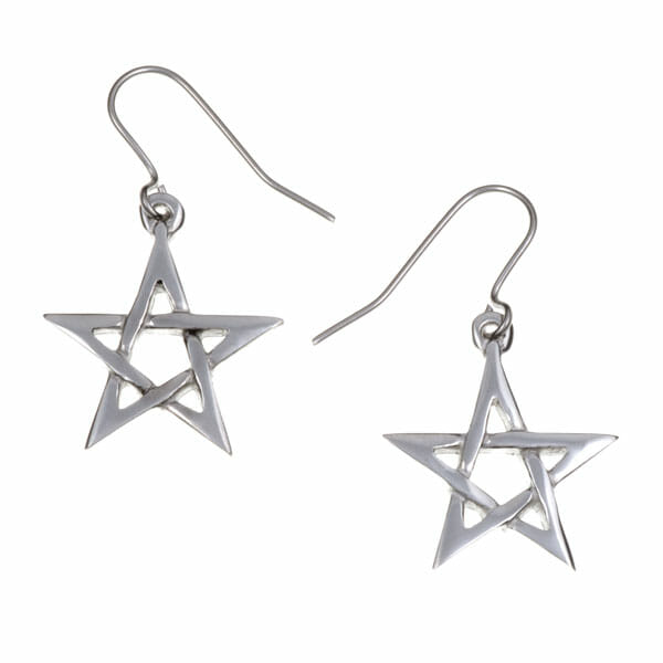 Pentagram earrings (small)
