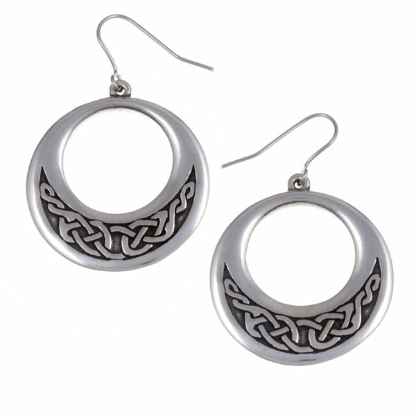 Creole earrings – Celtic knotwork