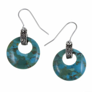 Turquoise circlet earrings