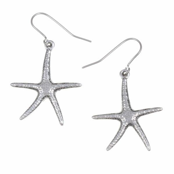 Sea star drop earrings