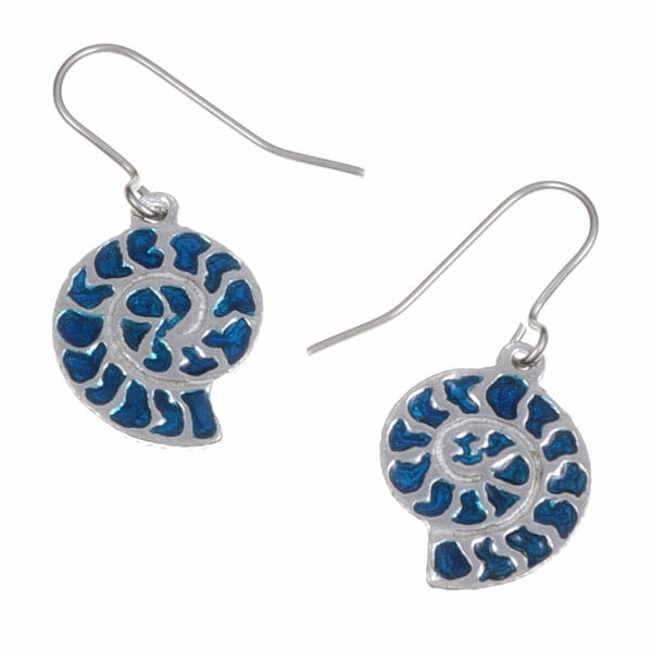 Ammonite drop earrings