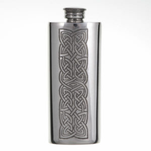 Knot panel slim flask (2oz)