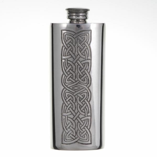 Knot panel slim flask (2oz)