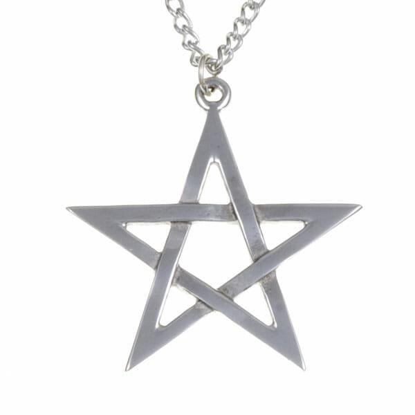 Pentagram pendant – pewter