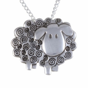 Swirly Sheep pendant 1