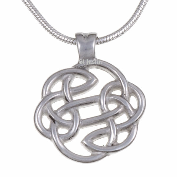 Lugh's knot pendant (small) – pewter