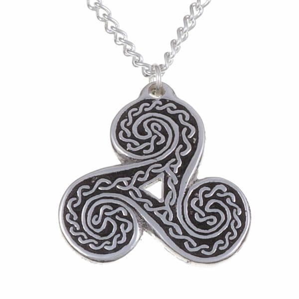 Triscele ribbon pendant