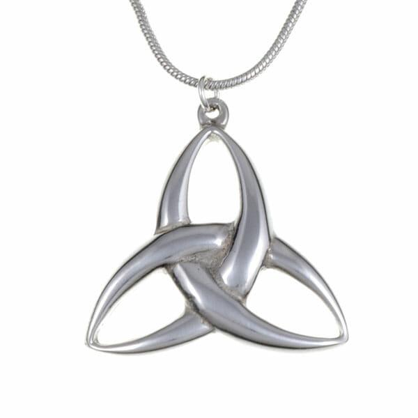 Convex trefoil knot pendant