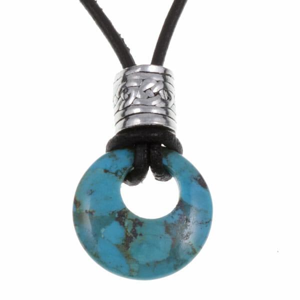 Turquoise circlet pendant