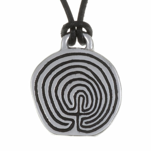 Tintagel labyrinth pendant