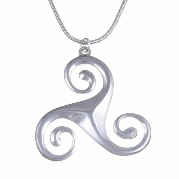 Bevelled triscele pendant