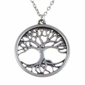 Tree of life pendant – pewter 1