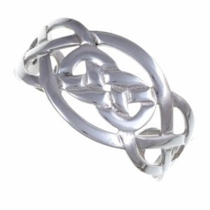 Wide Celtic knot open bangle