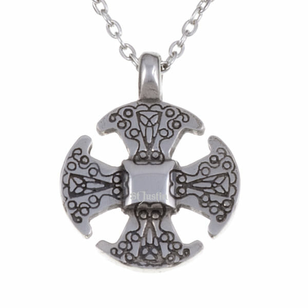 Canterbury cross necklet