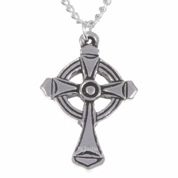 St Luke cross necklet