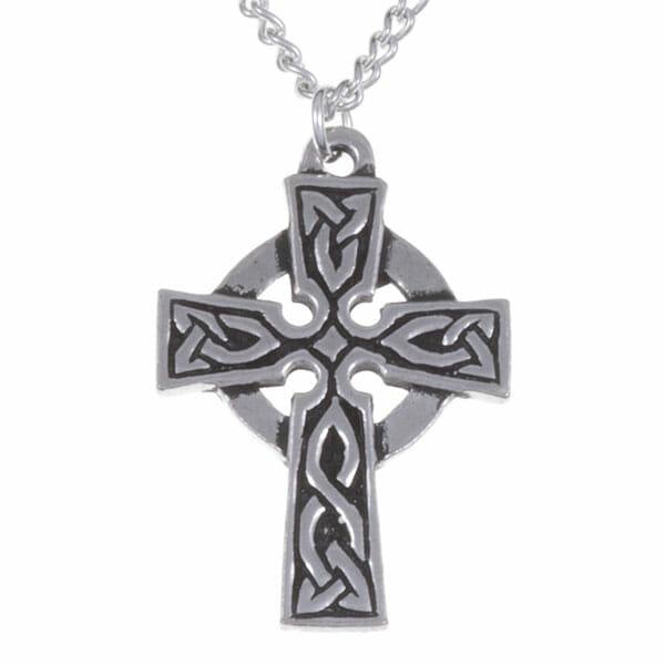 St Petroc cross necklet – pewter