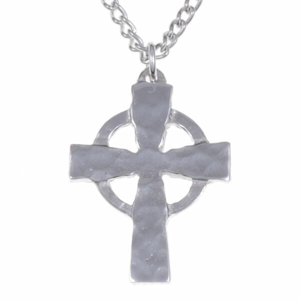 Celtic circle beaten cross