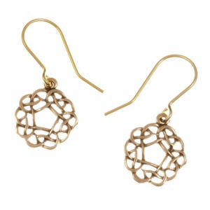 Pentagon knot drop earrings