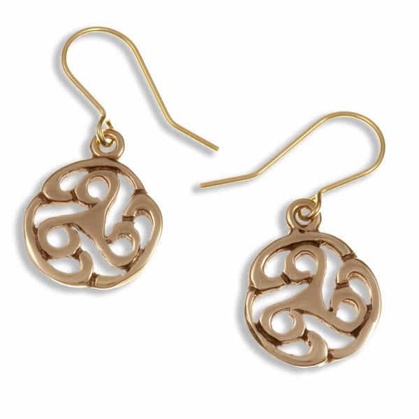 Apahida triscele drop earrings
