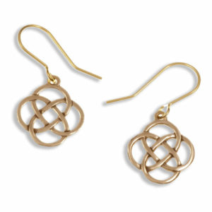 Four loop knot drop earrings