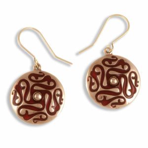 Whirligig drop earrings (red) 1