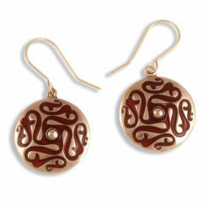Whirligig drop earrings (red) 1