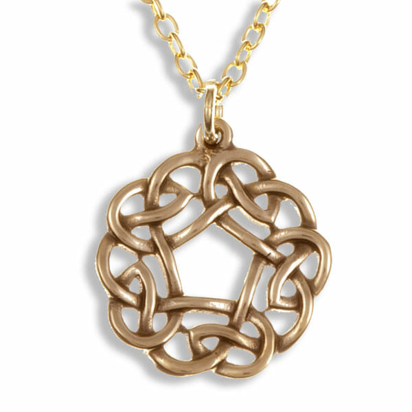 Pentagon knot pendant