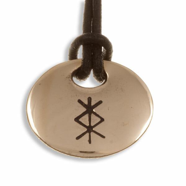 Love Bind Rune Pendant Bronze St Justin