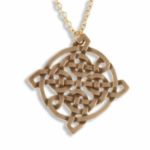 Interlacing square knot pendant