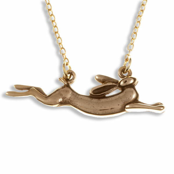 Leaping hare necklace bronze st justin leaping hare necklace aloadofball Gallery
