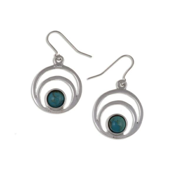 centric gemstone earrings