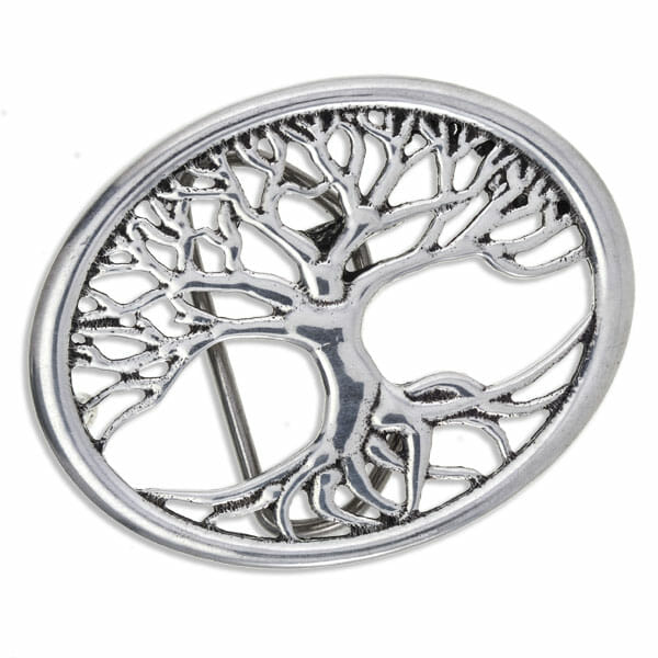 pewter tree of life buckle