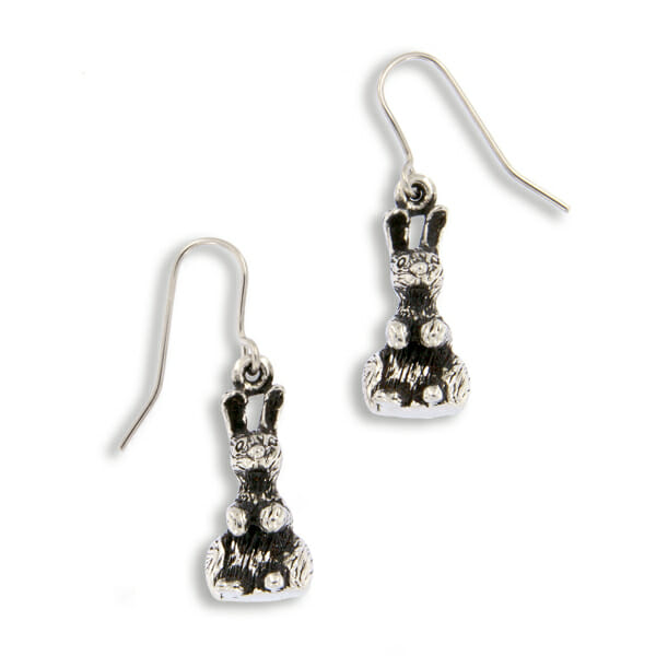 St Justin Easter bunny earrings