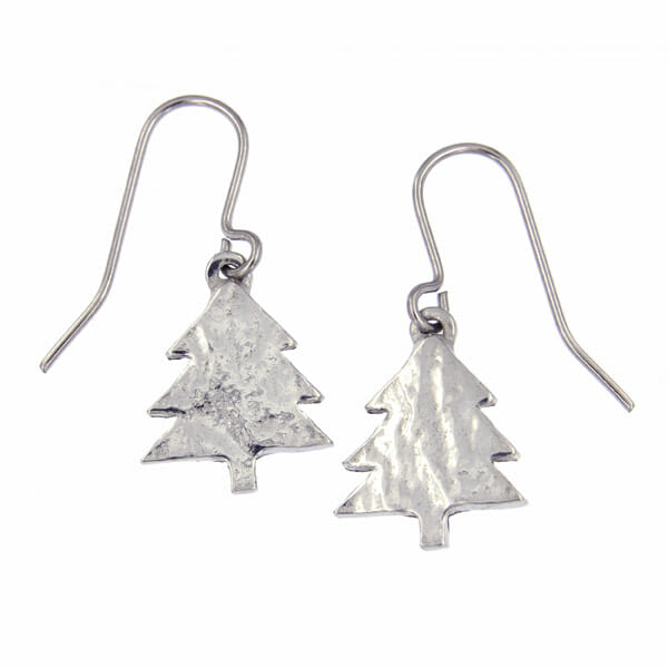 small christmas tree earrings