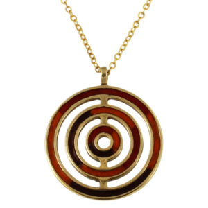 Bronze orbit enamelled pendant