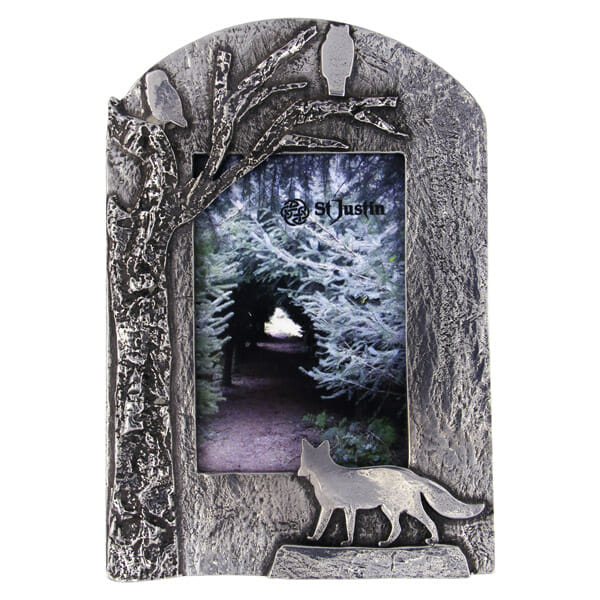 Pewter woodland friends picture frame