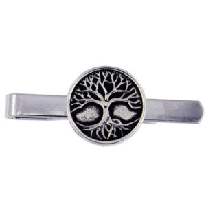 St Justin - Tree of life tieslide - A pewter tieslide featuring a fine detailed Celtic Tree of life.