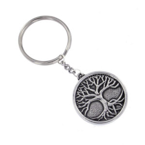 Pewter tree of life keyring