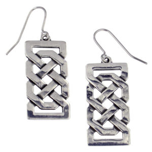 St Justin - Josephine knot drop earrings - Openwork knot drop earrings on surgical steel hooks.