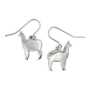 St Justin - Llama drop earrings on surgical steel hooks.