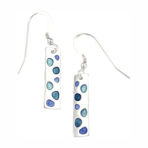 St Justin Silver Glas Mor Cribbar enamelled drop earrings